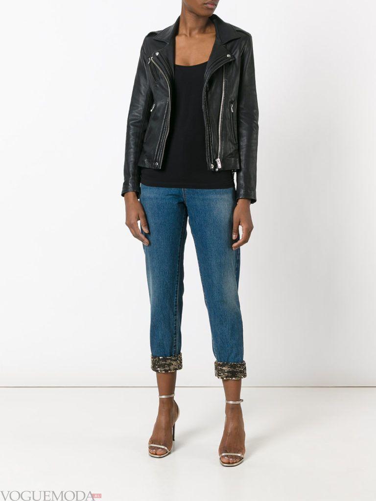 модные джинсы с манжетами