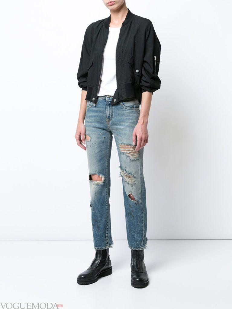 джинсы в стиле «Гранж» модные