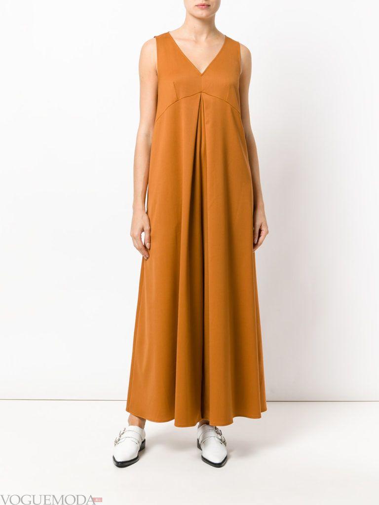 женский комбинезон с широкими брюками горчичный
