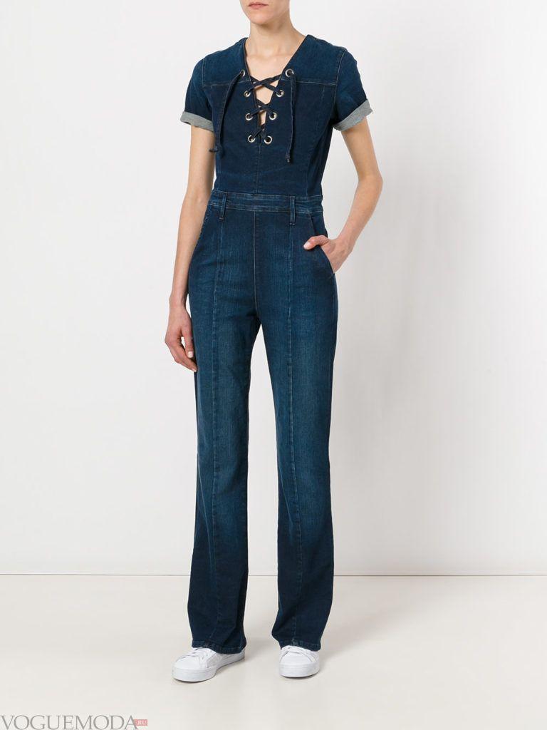 женский комбинезон джинсовый
