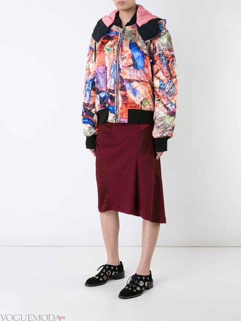 женская стеганая куртка бомбер