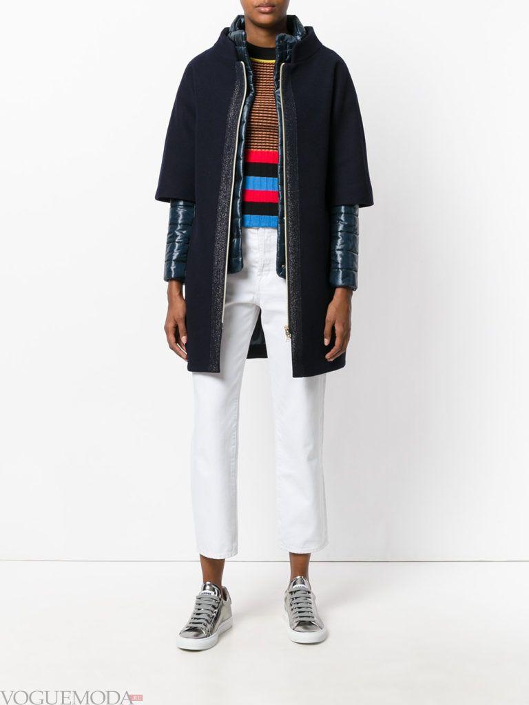 женская многослойная куртка черная