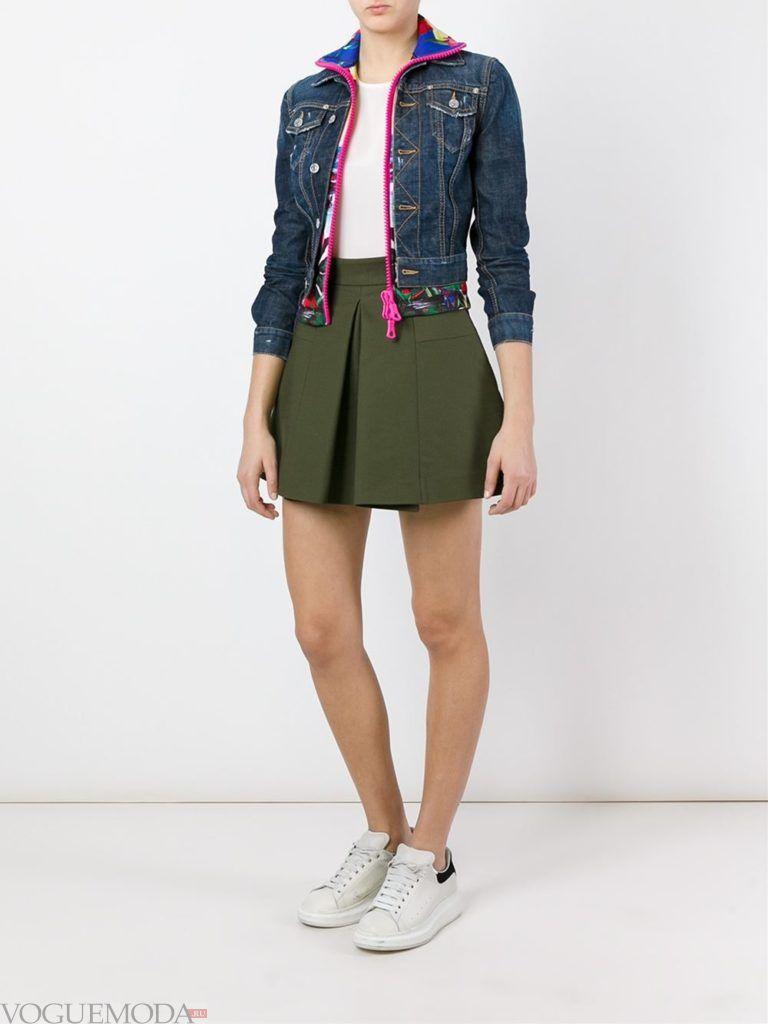 женская многослойная куртка джинсовая