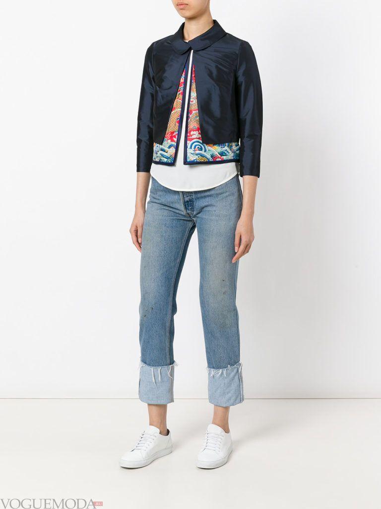 женская многослойная куртка короткая