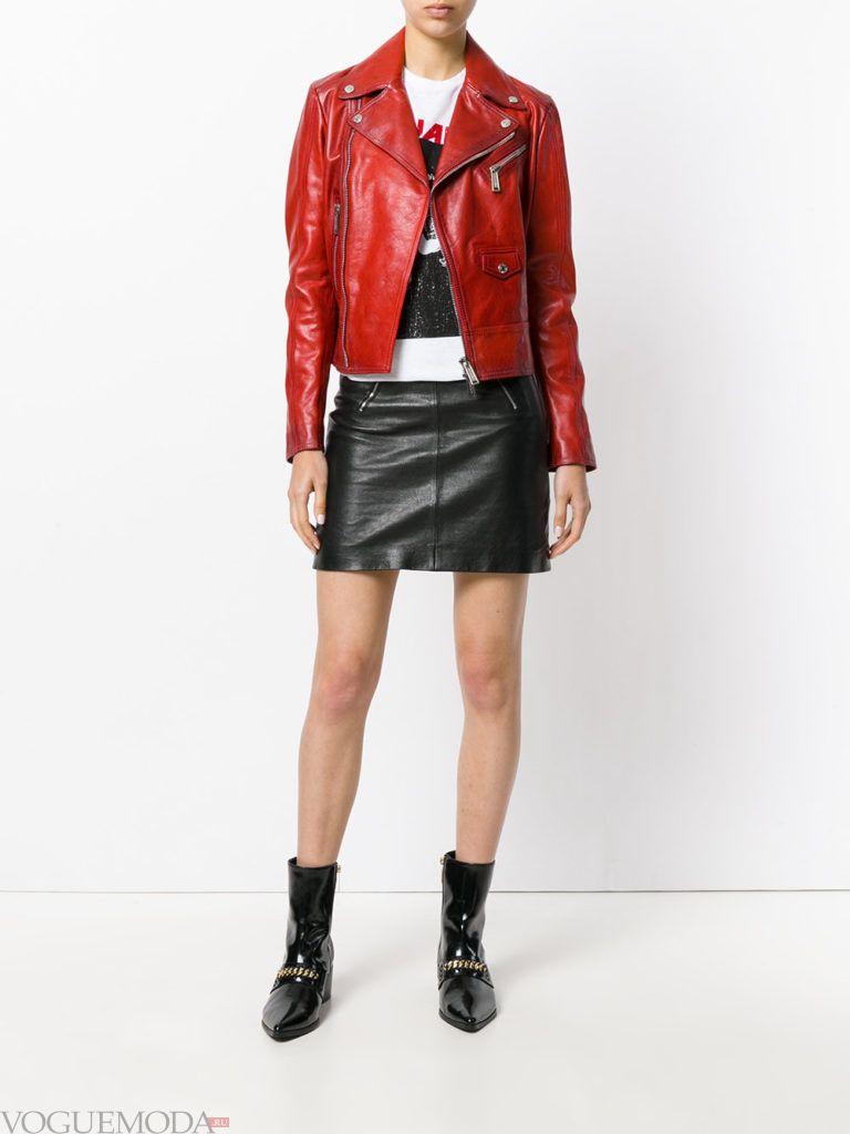 женские куртки осень-зима 2019 2020: красная