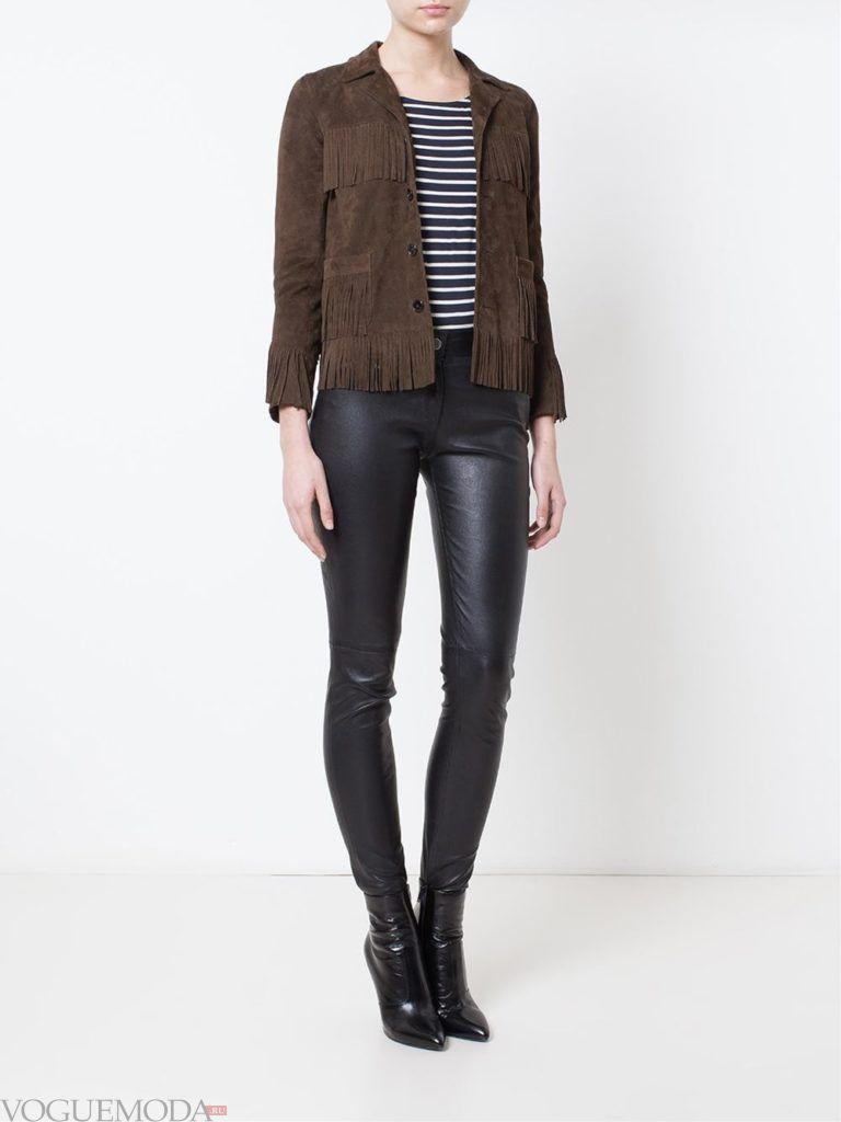 женская замшевая куртка мокко