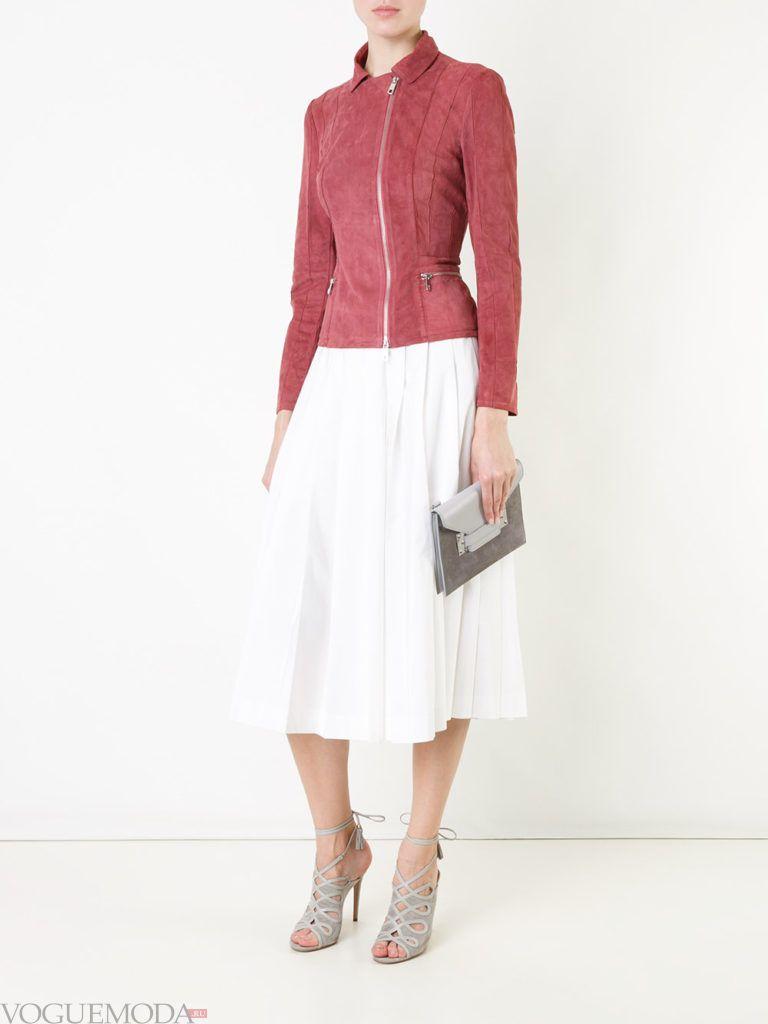 женская замшевая куртка розовая