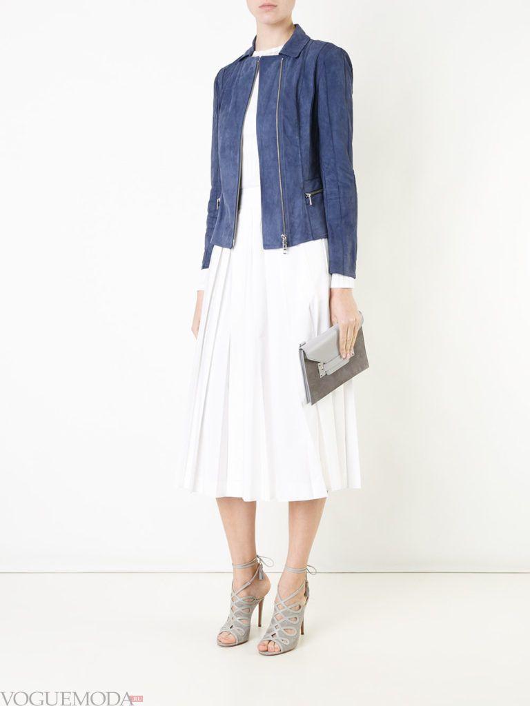 женская замшевая куртка синяя
