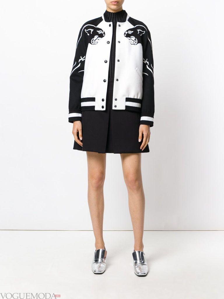 женская куртка бомбер двухцветная