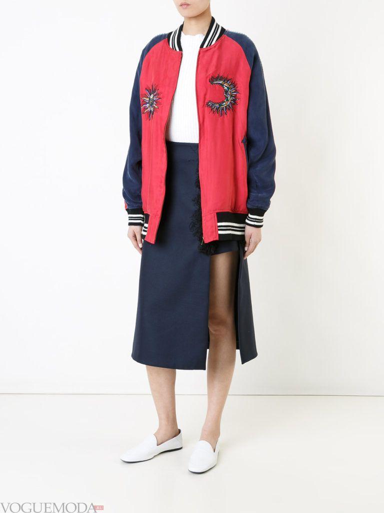 женская куртка бомбер цветная