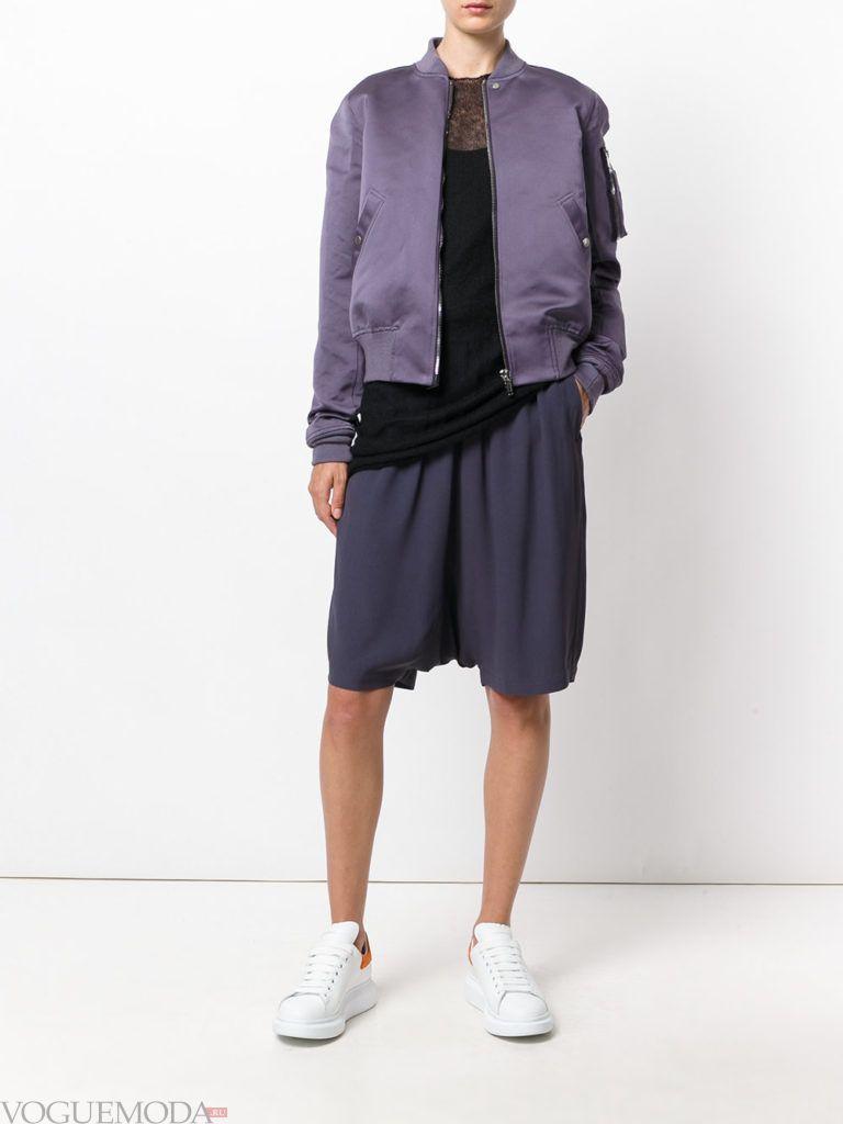 женская куртка бомбер модная