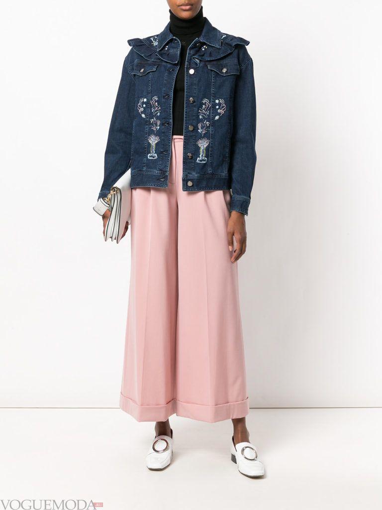 женские куртки осень-зима 2019 2020: синяя