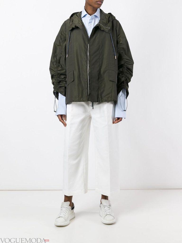 женские куртки осень-зима 2019 2020: зеленая
