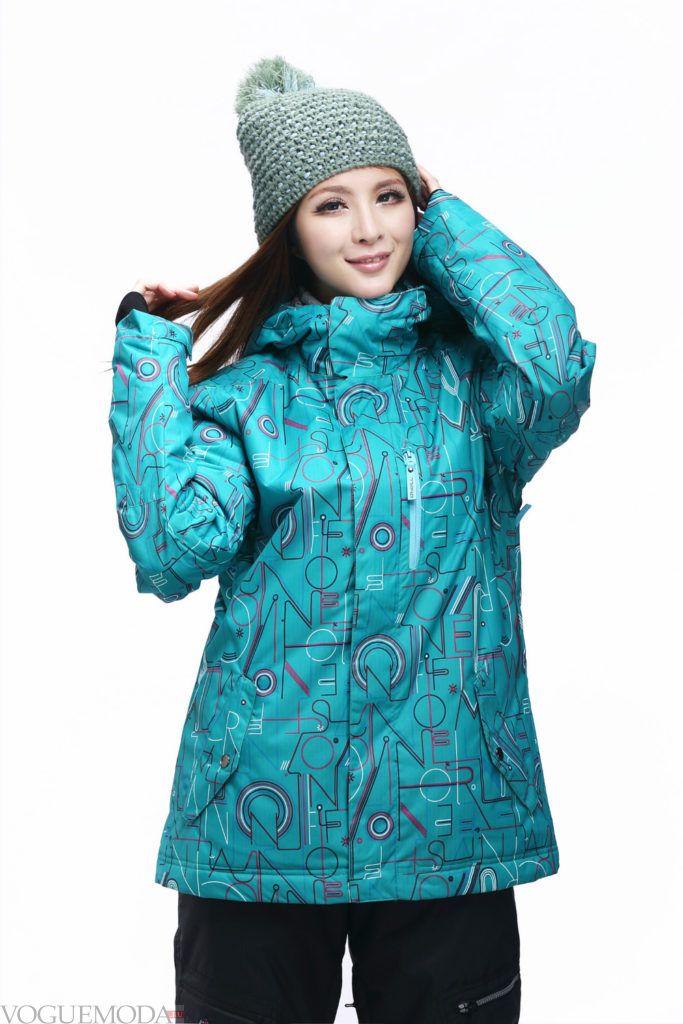 женская спортивная куртка мятная