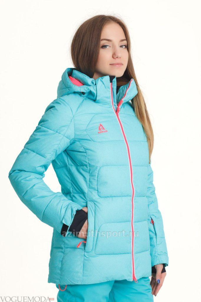 женская спортивная куртка голубая