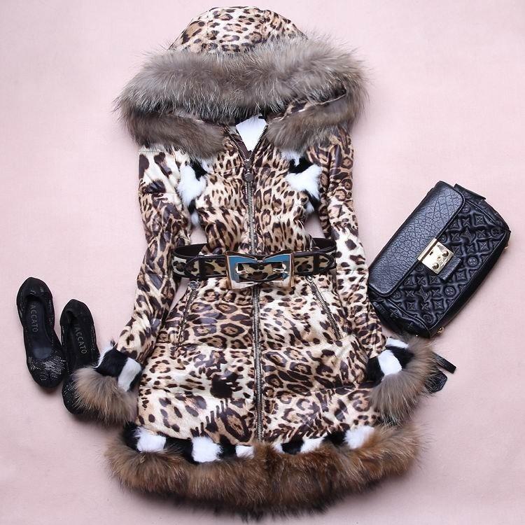 женская леопардовая куртка с мехом