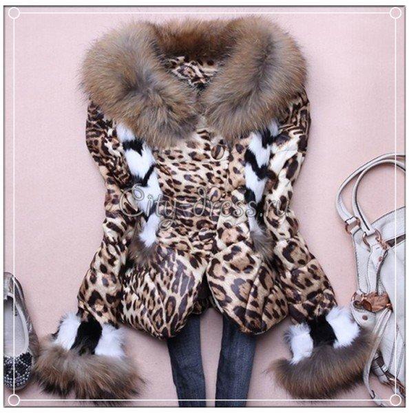 женская леопардовая куртка модная