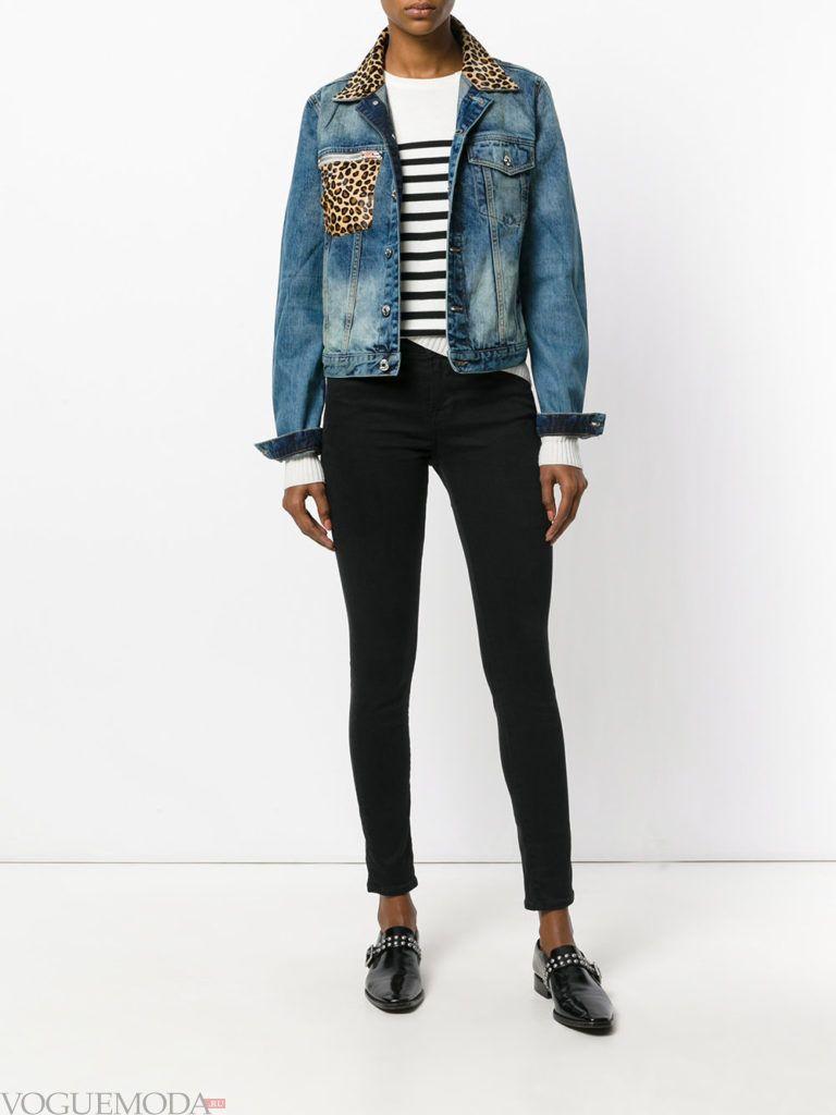 женская джинсовая куртка синяя