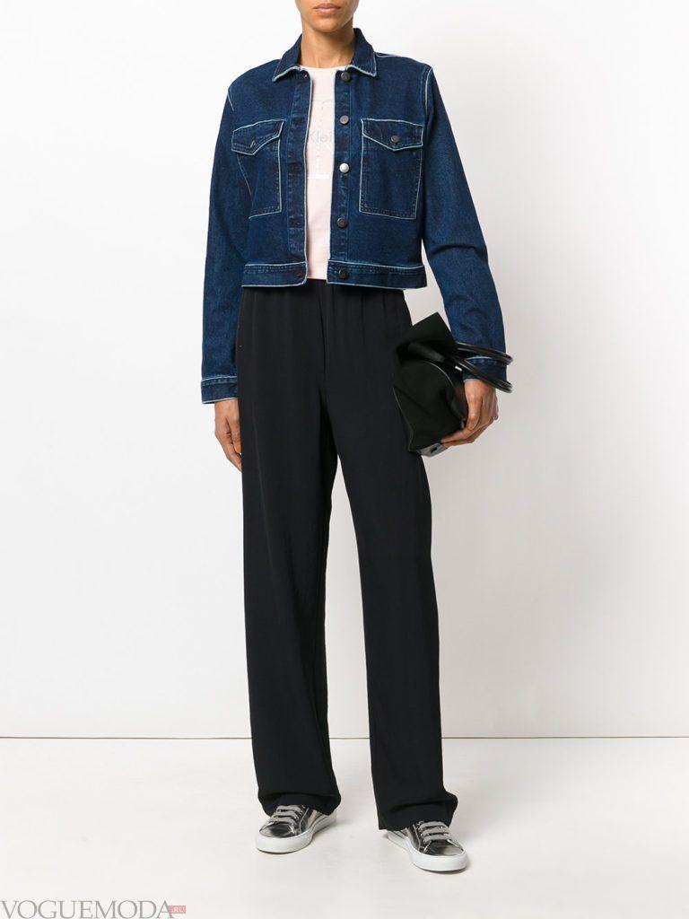 женская джинсовая куртка модная