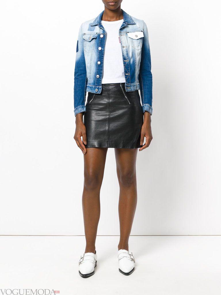 женская джинсовая куртка выбеленная