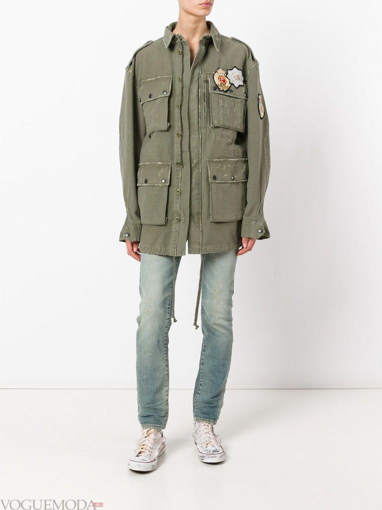 женские куртки осень-зима 2019 2020: с декором с карманами