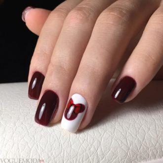 длинные ногти темные