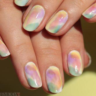 маникюр мазки на ногтях модный