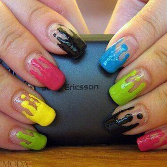 маникюр переливы радуги цветной