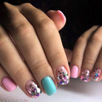 ногти цветные