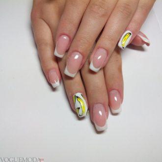 длинные ногти с рисунком
