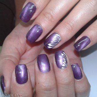 ногти фиолетовые