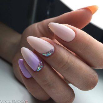 ногти розовые