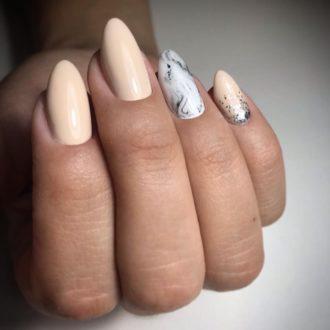 длинные ногти нюдовые