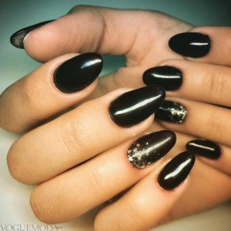 длинные ногти черные