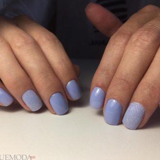 короткие ногти фиолетовые
