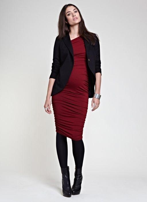 офисная одежда для беременных платье