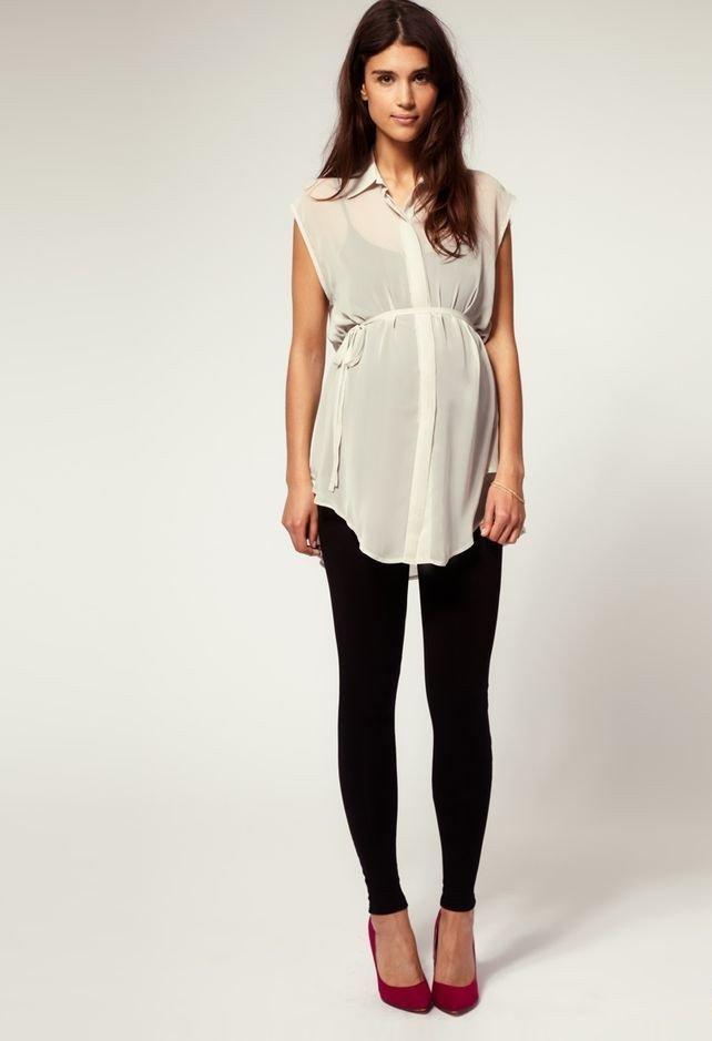офисная одежда для беременных с блузой