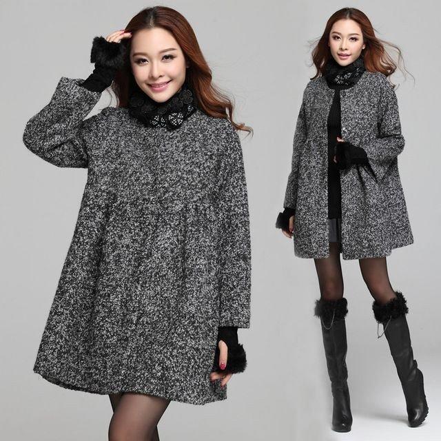 серое пальто для беременных