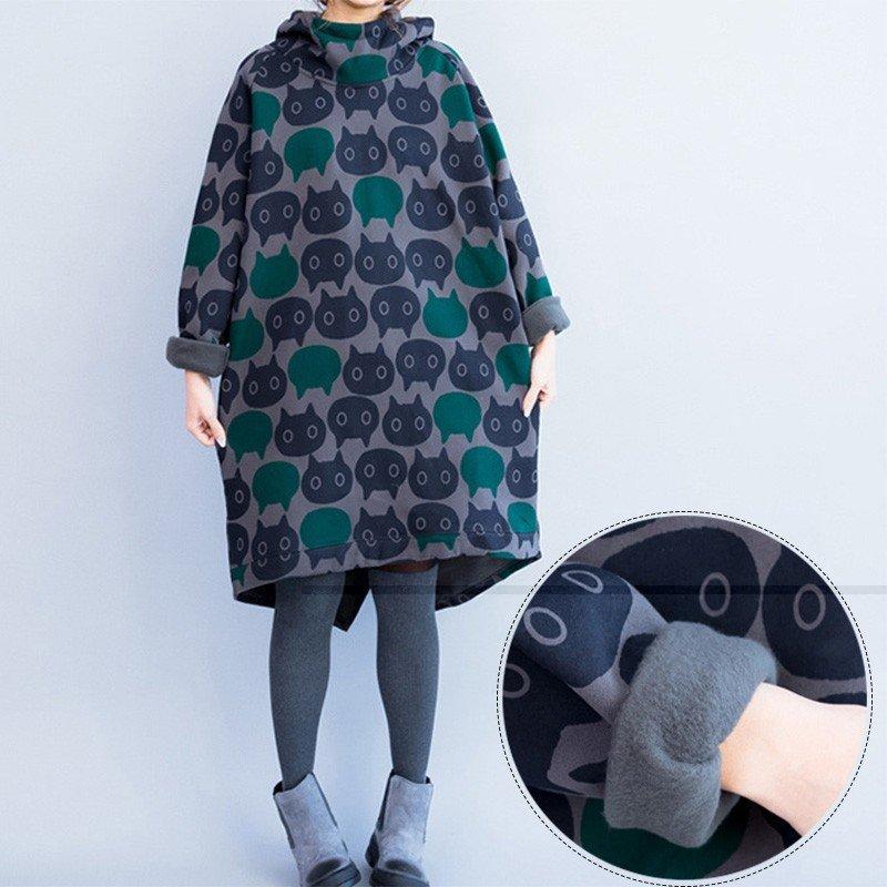 пальто с принтом для беременных