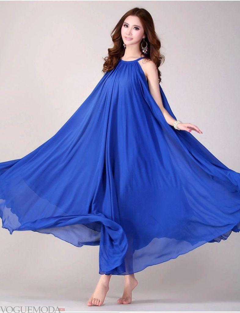 синее платье макси для беременных
