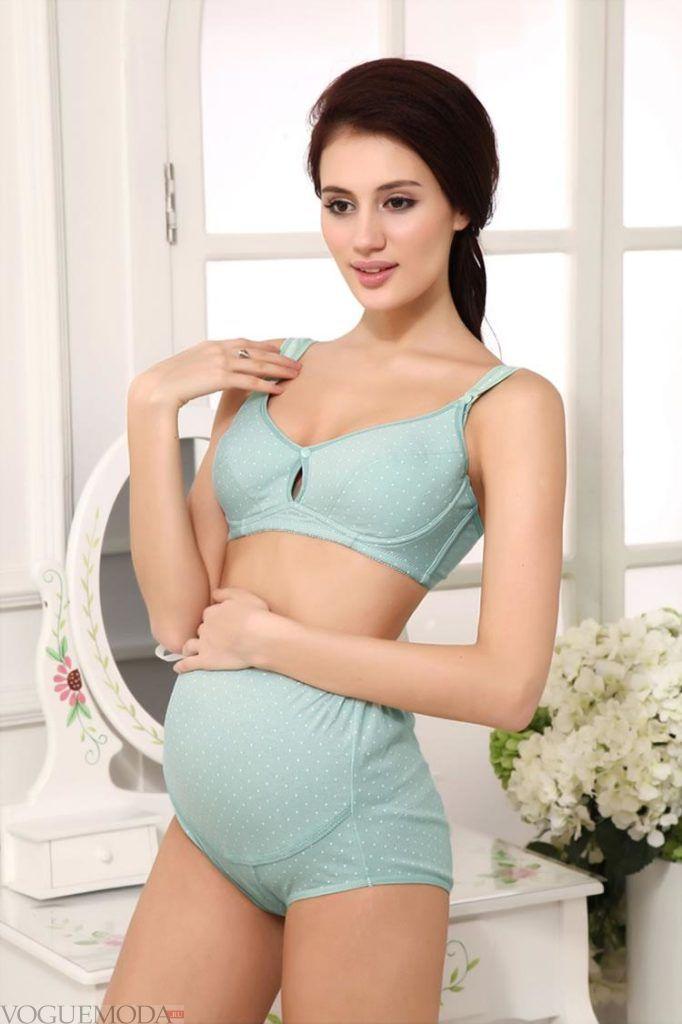 нижние белье для беременных мятное