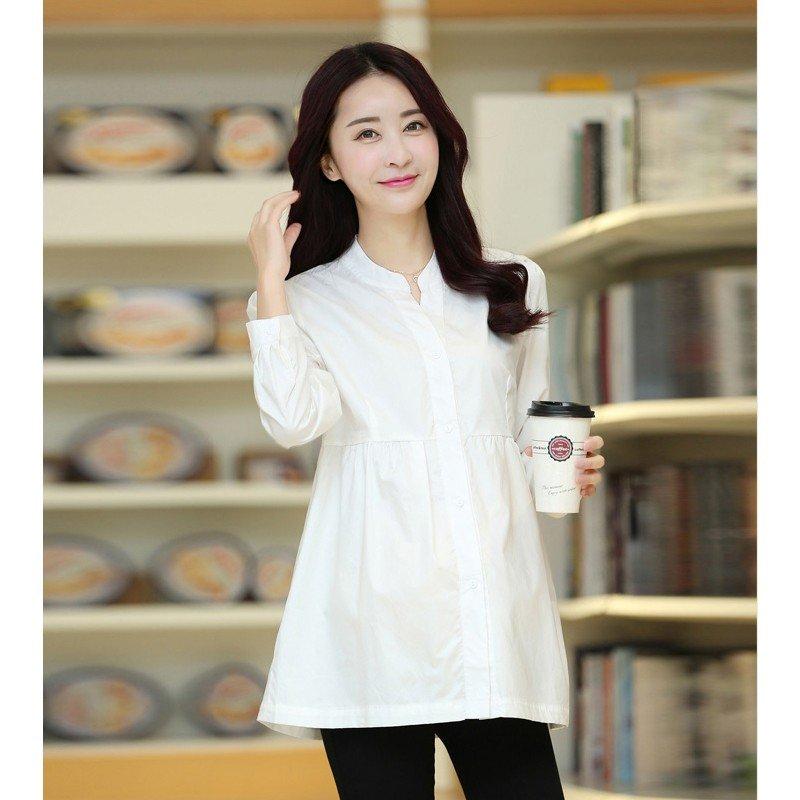 рубашка белая для беременных