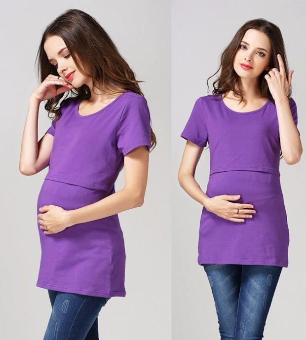 топ цветной для беременных