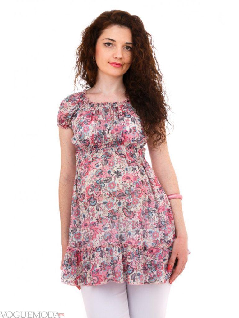 блуза с принтом для беременных