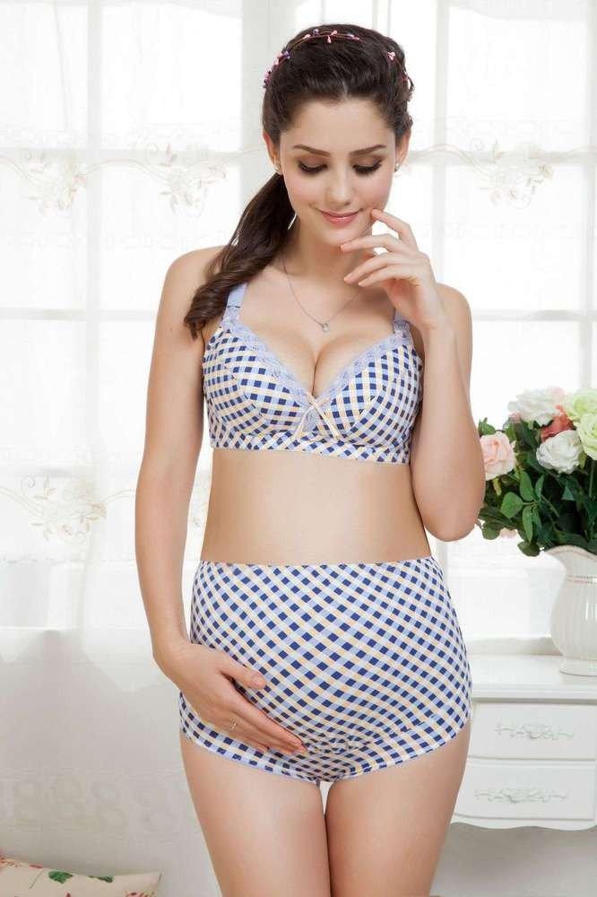 нижние белье для беременных в горошек
