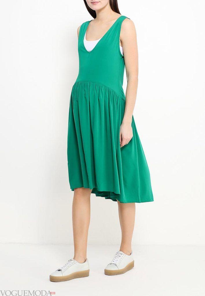 удобное платье для беременных зеленое