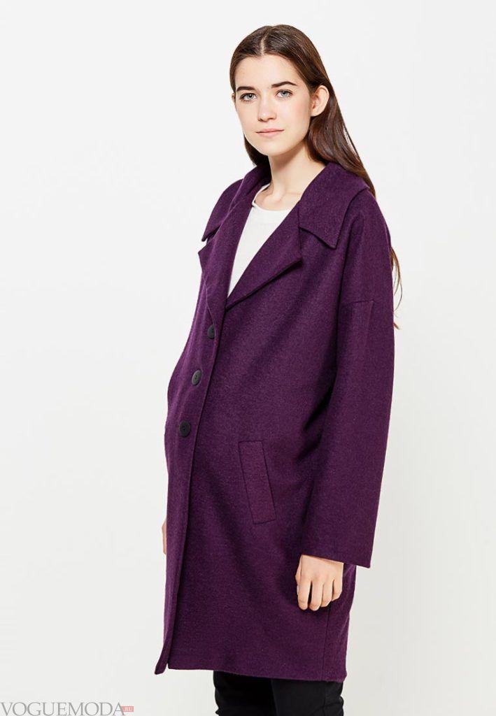 цветное пальто для беременных
