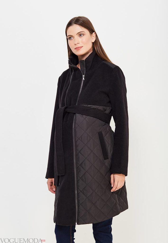 черное пальто для беременных