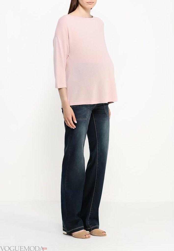 джинсы темные для беременных