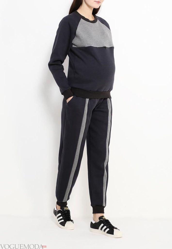 спортивный костюм для беременных с декором